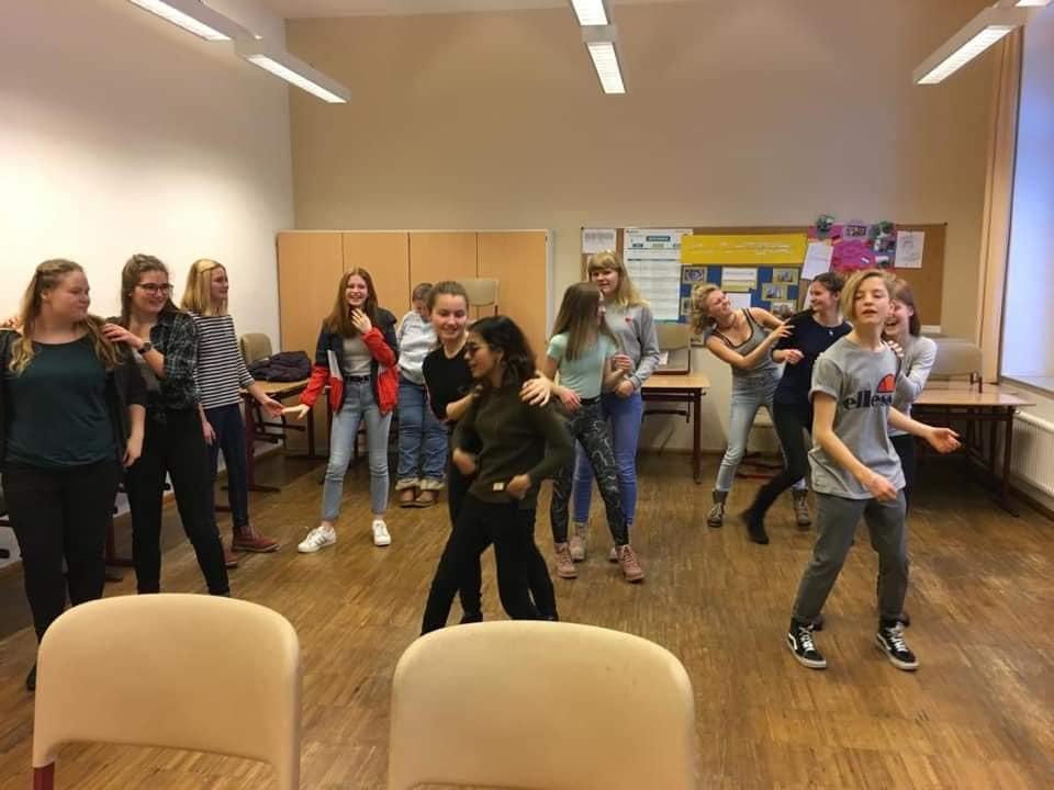 Sristi on a theatre workshop