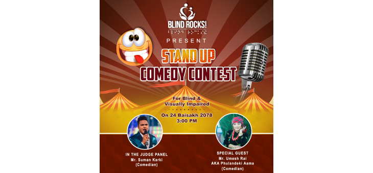 Blind Rocks! presents stand up comedy contest for blind and visually impaired.