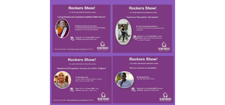 Rocker Show Banner with our program guest photo and discussion title