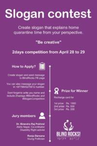 Slogan contest poster