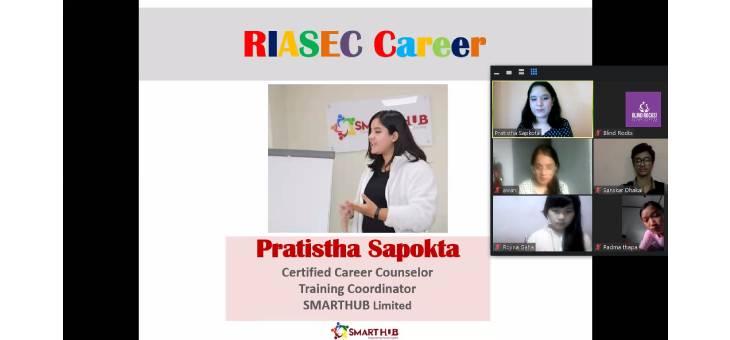Pratistha Sapkota Ma'am presenting Career Counselling Session .