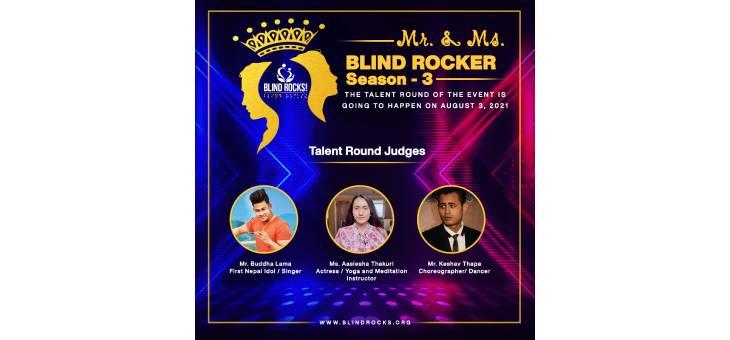 Mr. and Ms. Blind Rocker Season 3 Talent Round's Social media poster.