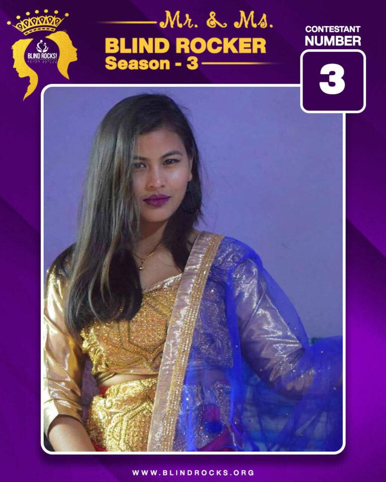 Ms. Blind Rocker First Runner Up Shruti Rana Magar (Contestant 03)